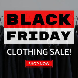 Black Friday Clothing Sale Ad Banner Maker 748c