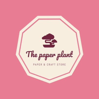 Paper & Craft Store Logo Maker 1277a