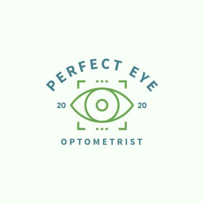 Optometry Logo Maker with Eye Graphics 1497a