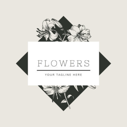 Online Logo Maker for Florists with Geometric Shapes 1270d