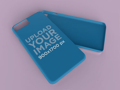 Mockup of a Phone Case Lying on Top of Another 23163