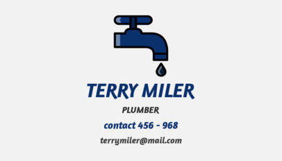 Business Card Generator for a Plumber 664a
