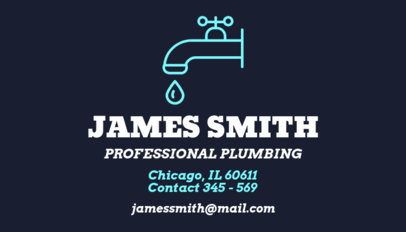 Professional Plumbing Business Card Maker 664b