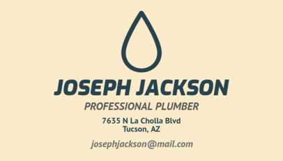 Business Card Template for a Professional Plumber 664c