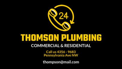 Commercial and Residential Plumber Business Card Maker 664d