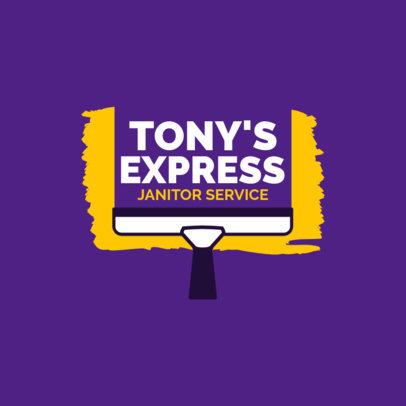 Express Janitor Service Logo Generator 1446d
