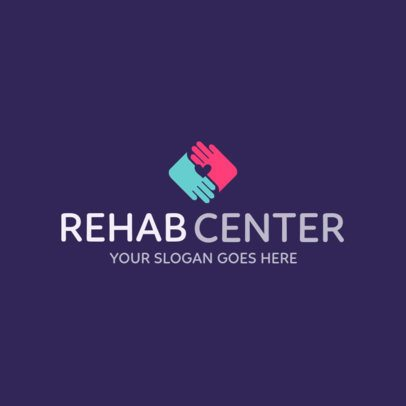 Rehab Center Logo Template 1508c
