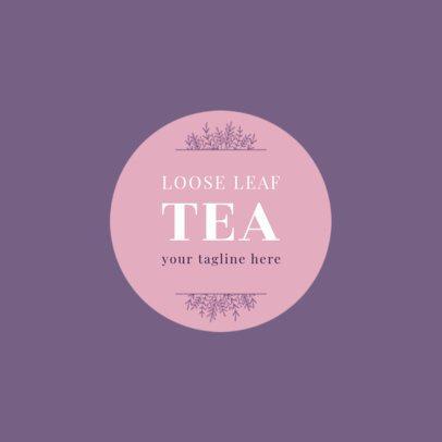 Loose Leaf Tea Shop Logo Template 1345c