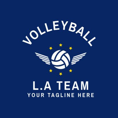 Volleyball Team Logo Generator 1510a