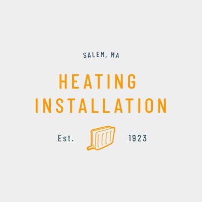Heating Installation Logo Generator 1503a
