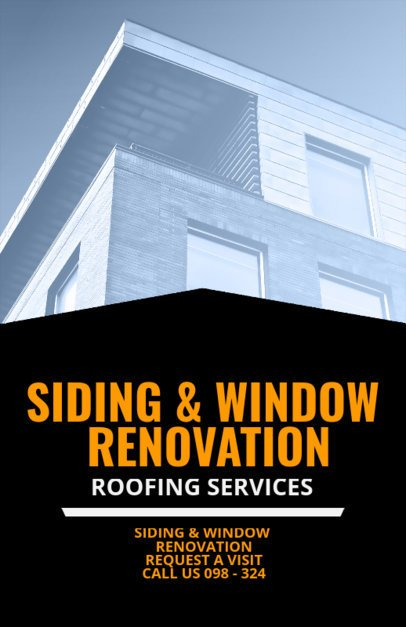 Siding and Window Renovation Flyer Maker 708d