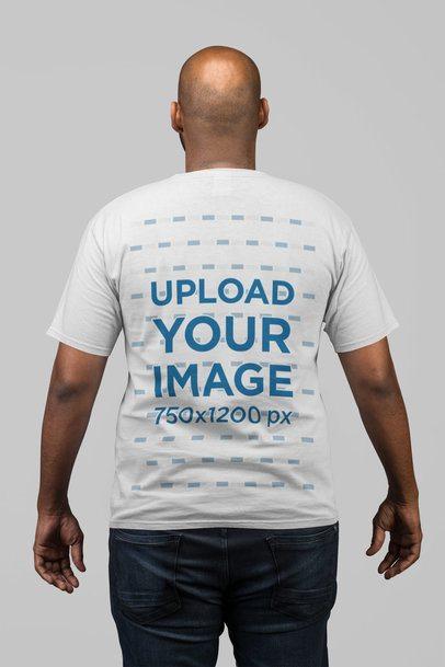 Back View Mockup of a Man Wearing a T-Shirt 21693