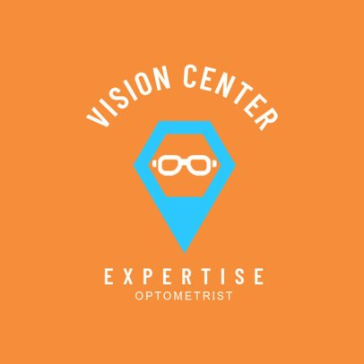 Simple Vision Center Logo Design Maker 1515c