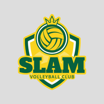 Volleyball Club Logo Maker 1513c