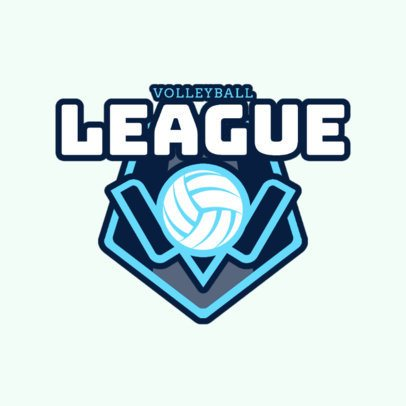 Volleyball League Logo Maker 1513d