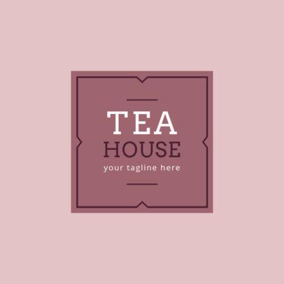 Tea House Logo Design Template 1345e