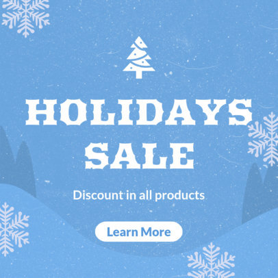 Christmas Banner Template for Holiday Sales 778