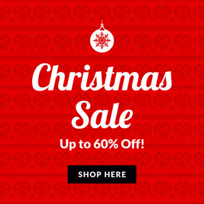 Minimalistic Christmas Sale Banner Maker 780