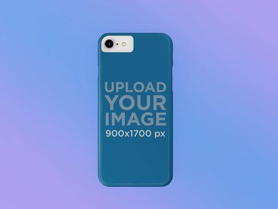 Mockup of a Phone Case Over a Gradient Background 23150