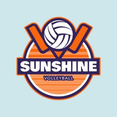 Volleyball Club Logo Design Template 1499d