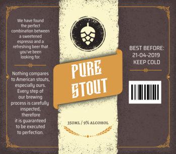 Stout Beer Label Maker 759c