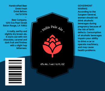 IPA Beer Label Design Maker 760c
