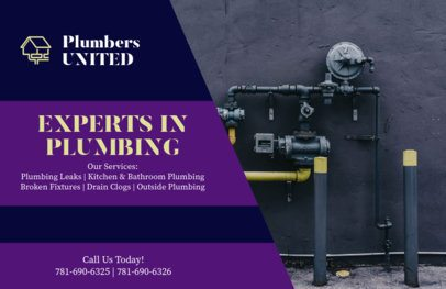 Horizontal Flyer Maker for Plumbing Experts 727c