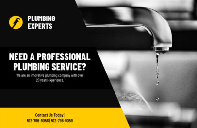 Horizontal Flyer Template for Professional Plumbing Services 727b