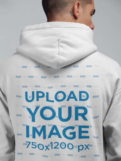 Pullover Hoodie Mockup of a Man in a Studio 21561