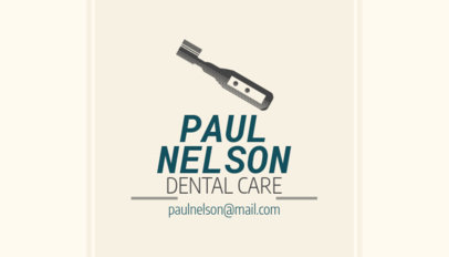 Dental Business Card Maker with Custom Colors 558d