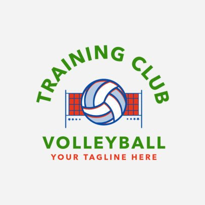 Professional Volleyball Team Logo Maker 1510c