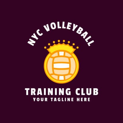 Sports Logo Template for a Volleyball Team 1510e