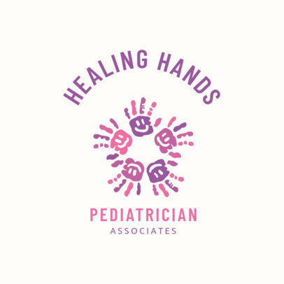 Customizable Pediatrician Logo Design Template 1532