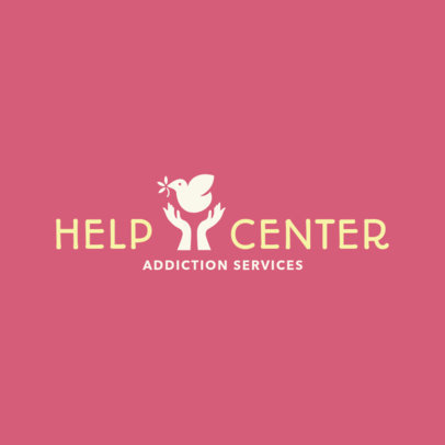 Logo Generator to Create a Help Center and Rehab Logo 1502c