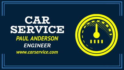 Business Card Maker for an Automotive Engineer 557c