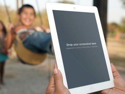 White iPad 2 Vertical Children Park
