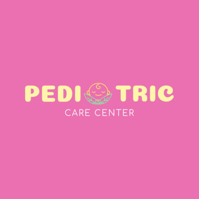 Logo Design Maker for a Pediatric Clinic 1534c