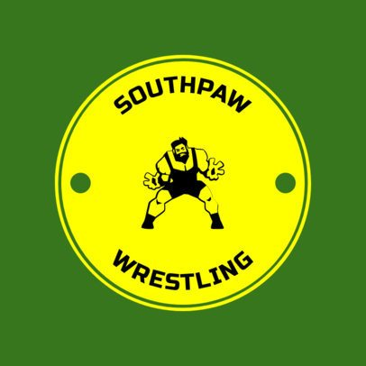 Wrestling Logo Design Template 1537e