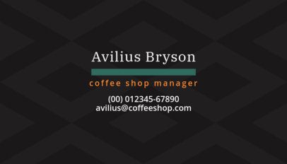 Business Card Maker for Coffee Shop Managers 570d