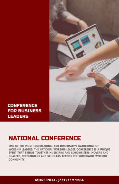 Online Flyer Maker for Leadership Conferences 98c