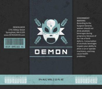 Beer Label Maker for a Lucha Themed Beer Label Design 765a