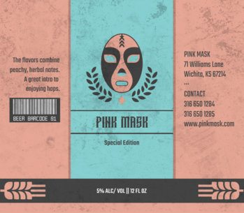 Beer Label Design Maker with Wrestling Mask 765c