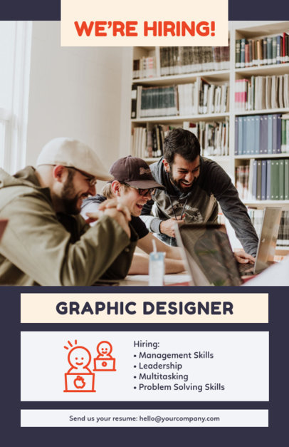 Recruitment Flyer Template for a Graphic Designers Campaign 726b