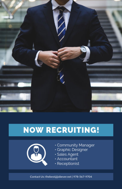 recruitment flyer template for an hr firm