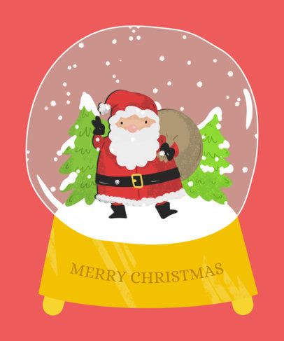 Holiday T-Shirt Design Maker with a Santa in a Crystal Ball 833