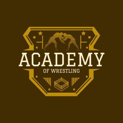 Wrestling Academy Logo Maker 1539a