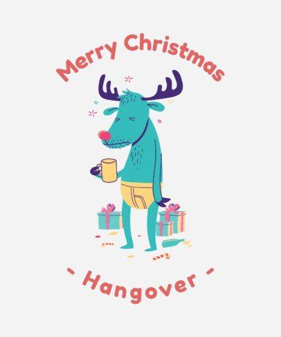 Xmas T-Shirt Design Creator with Funny Reindeer 836b