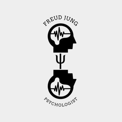 Freudian Themed Psychologist Logo Maker 1522a