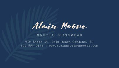 Business Card Maker for a Clothing Line 561a-1819