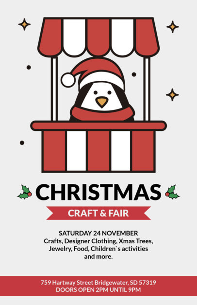 Holiday Flyer Template for a Christmas Fair 861